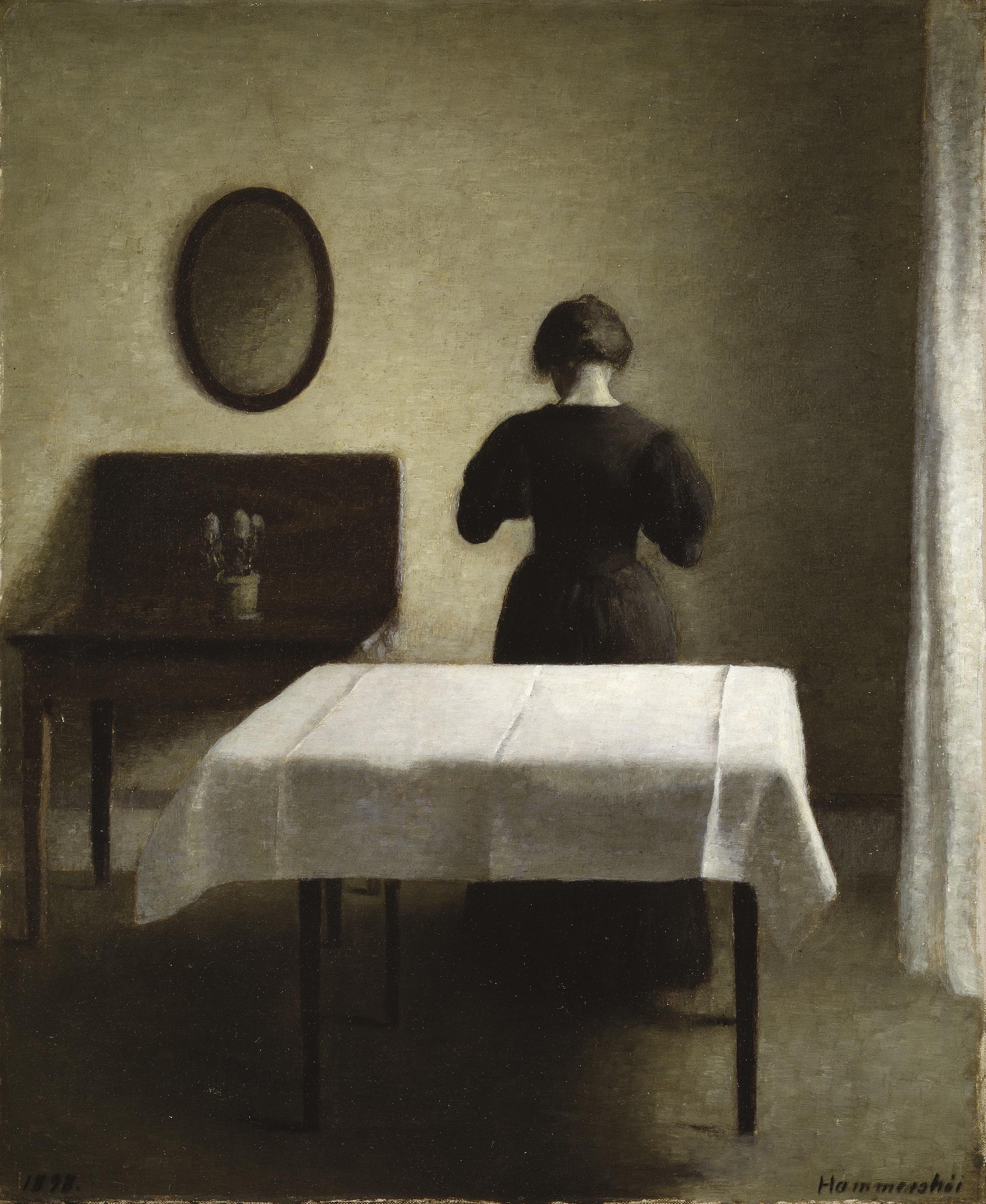 ヴィルヘルム・ハマスホイ 《室内》 1898年 スウェーデン国立美術館蔵 Nationalmuseum, Stockholm / Photo: Nationalmuseum