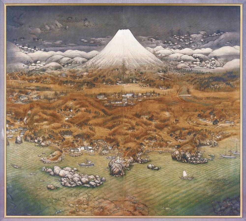不染鉄《山海図絵(伊豆の追憶)》 1925年 公益財団法人木下美術館