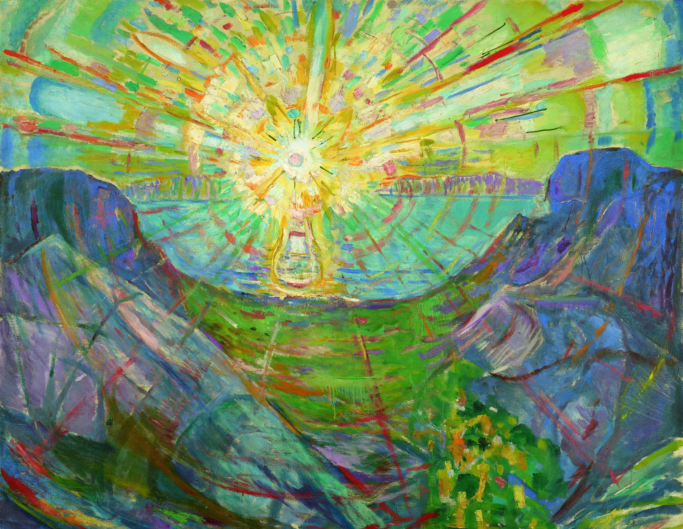 エドヴァルド・ムンク《太陽》1910-13年 油彩、カンヴァス 162×205cm