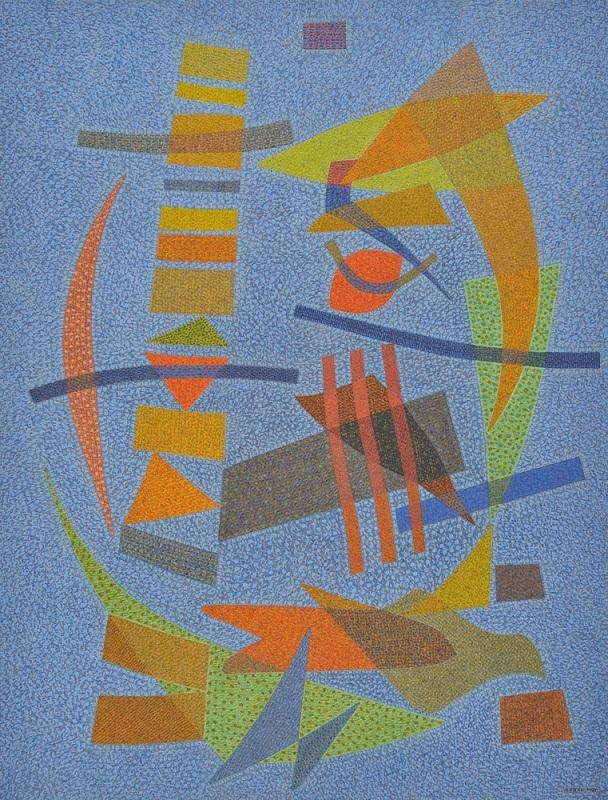 オットー・ネーベル《コン・テネレッツァ(優しく)》1939年、テンペラ・紙、オットー・ネーベル財団