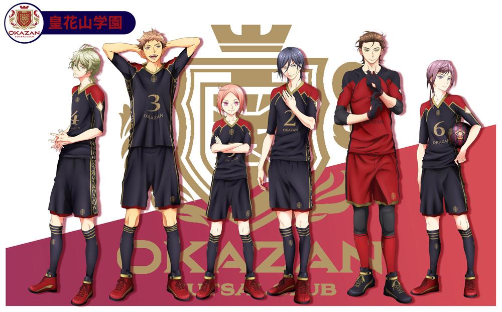 皇花山学園選手イラスト (C)FUTSAL BOYS!!!!! ORIGINAL WORK