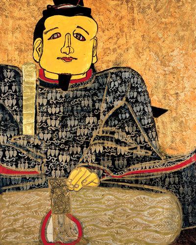 片岡球子《面構 足利尊氏》1966年 神奈川県立近代美術館