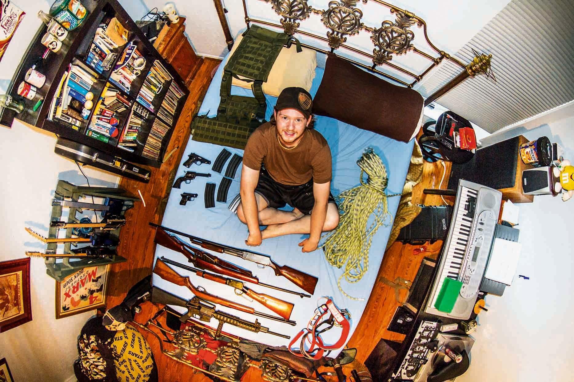 銃のコレクションがある部屋(アメリカ)Ben