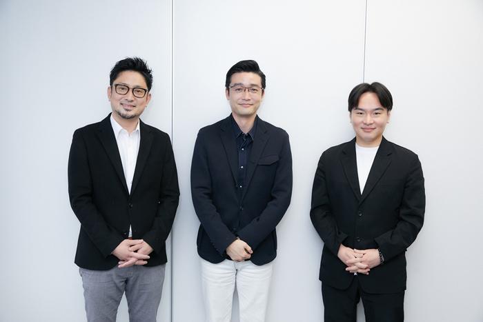 (左から)宮本賢二、尾上菊之丞、原田諒