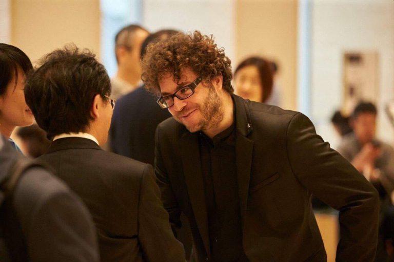 5月来日時に東京オペラシティコンサートホール ロビーにて