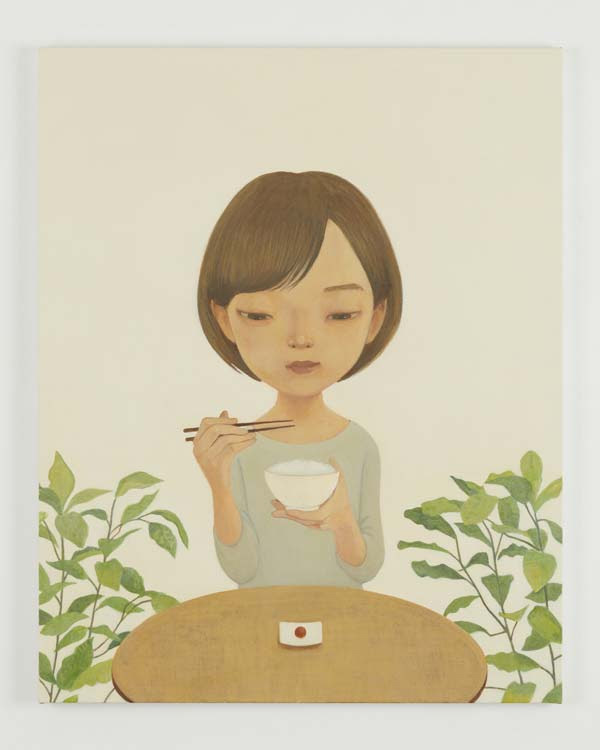 「Meshi」 2017acrylic on canvas 91.1 x 72.7 cm (C) Hideaki Kawashima