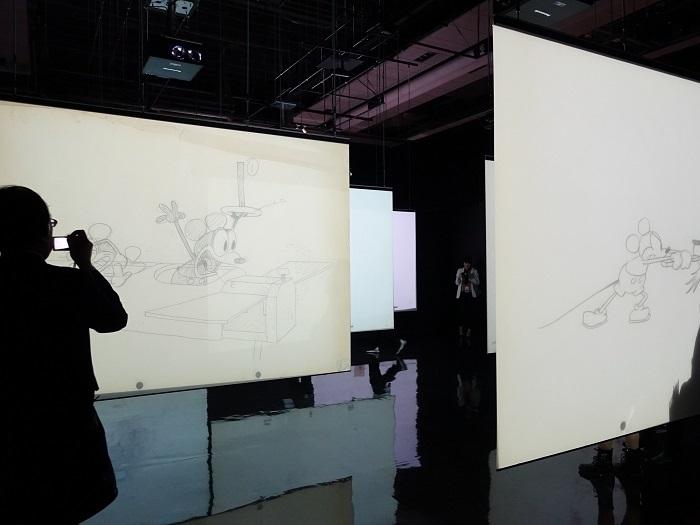 「体験型! いのちを吹き込むペンシル・テスト」 All Disney artwork © Disney Enterprises Inc.