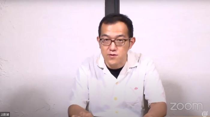 「京都妖気保安協会」作・演出の上田誠。