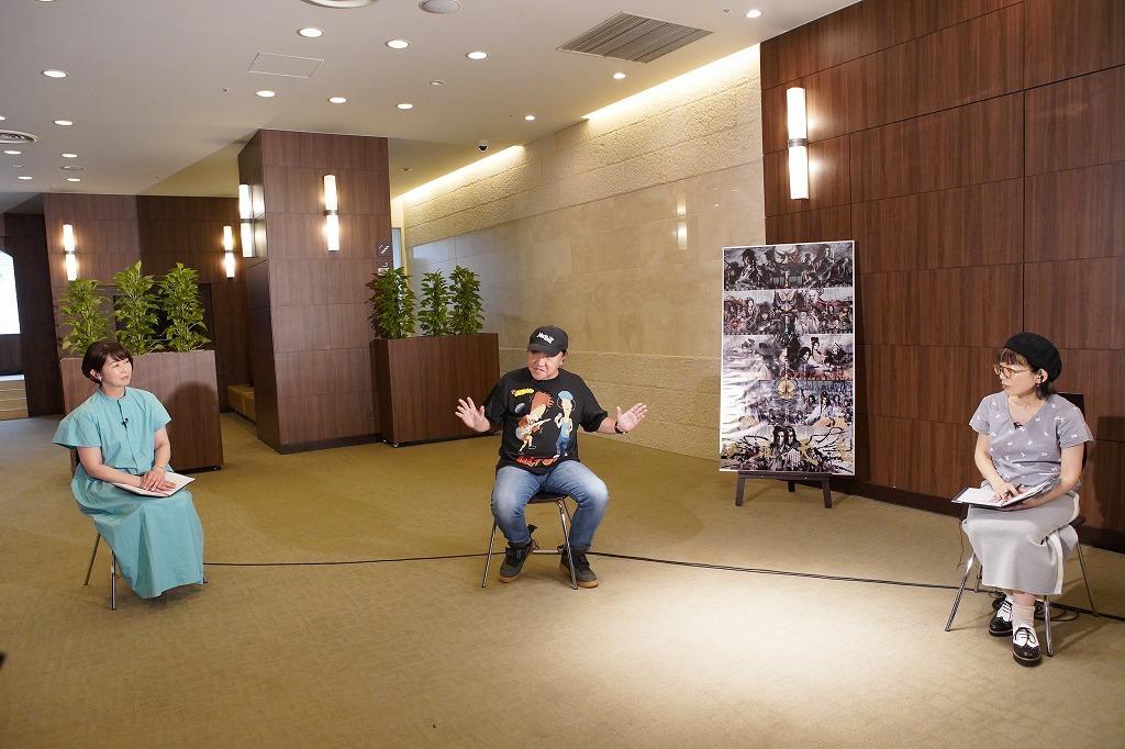 勝手な聞き放談より (左から)中井美穂、いのうえひでのり、徳永京子 撮影:宮川舞子