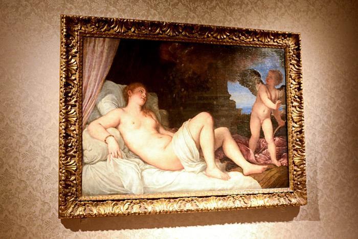 ティツィアーノ・ヴェチェッリオ《ダナエ》1544-46 年頃、ナポリ、カポディモンテ美術館