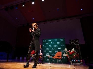 YOSHIKI マイアミ大学フロスト音楽校で特別講義を実施「全てのコンサートが最後のコンサートだと思って演奏すべきだ」