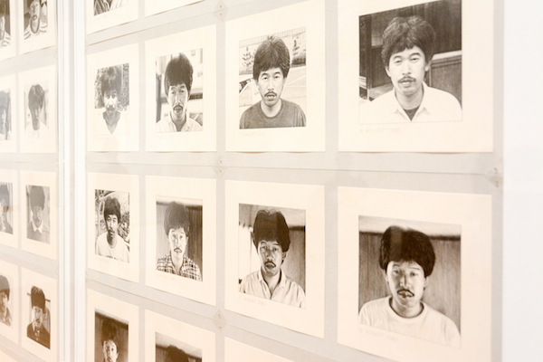 《365日の自画像 1981.7.24-1982.7.23》(部分) 1981-1990年