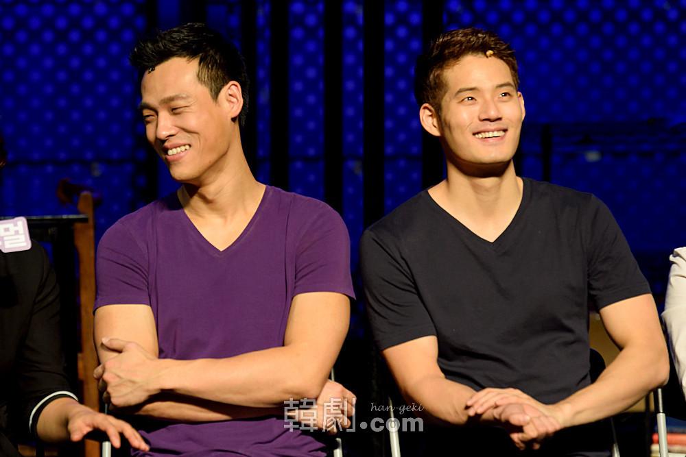 ゲイブ役のチェ・ジェリム(左)とソ・ギョンス