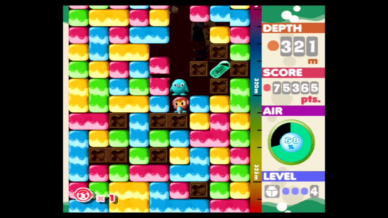 『ミスタードリラー』ゲーム画面 (C)1999 BANDAI NAMCO Entertainment Inc.