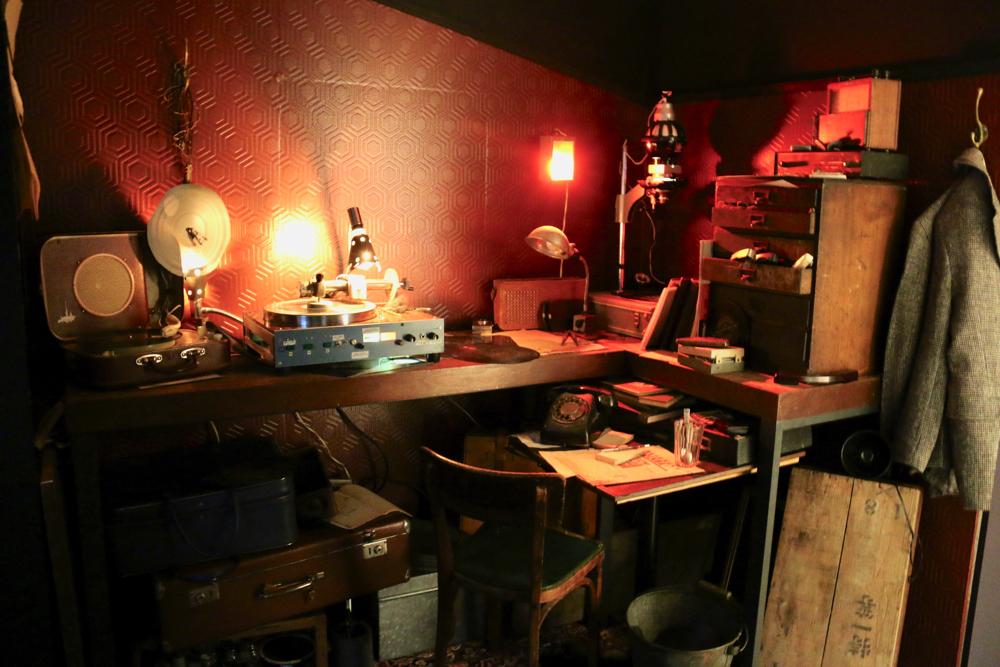 ボーン・レコード制作部屋の再現展示
