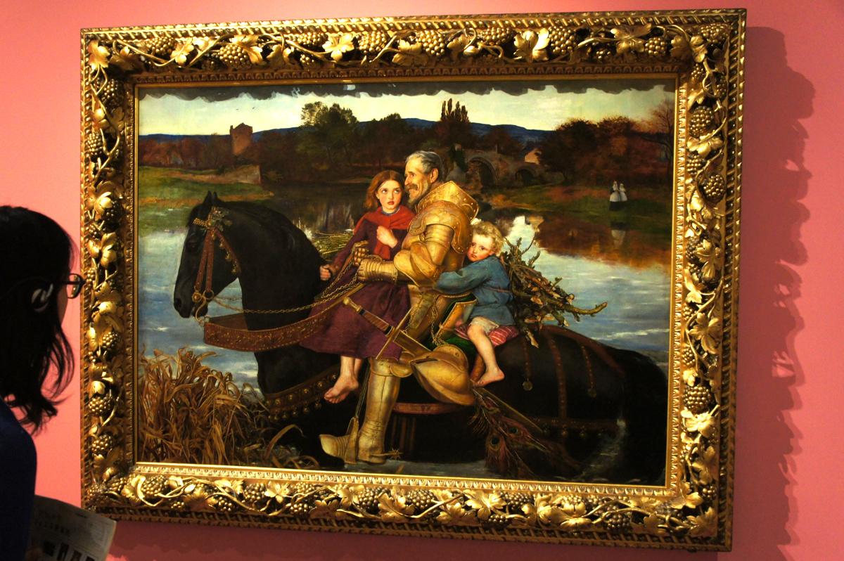 ジョン・エヴァレット・ミレイ『いにしえの夢ー浅瀬を渡るイサンブラス卿』1856-7年 油彩・カンヴァス ©Courtesy National Museums Liverpool, Lady Lever Art Gallery