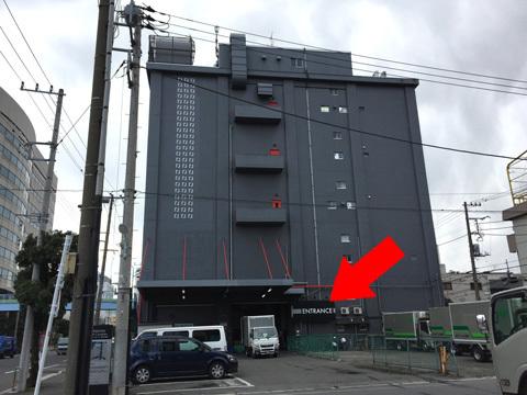 矢印の先がエレベーター
