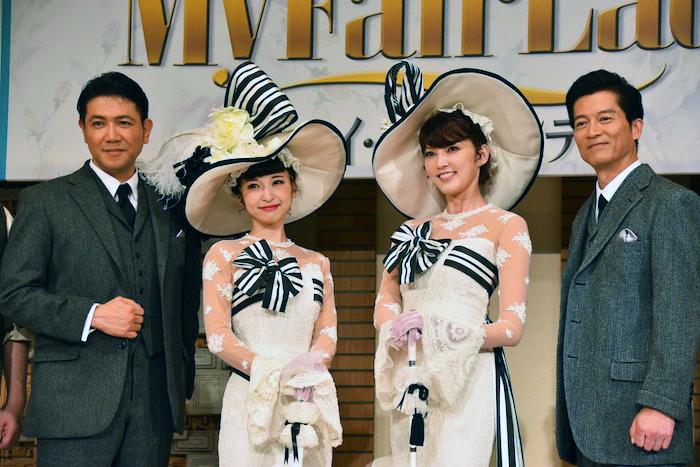 別所哲也、神田沙也加、朝夏まなと、寺脇康文(左から)