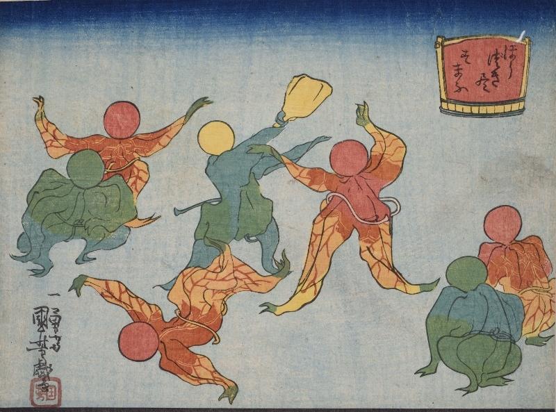 歌川国芳《ほうづき尽 すまふ》弘化(1844-48)頃 (2)
