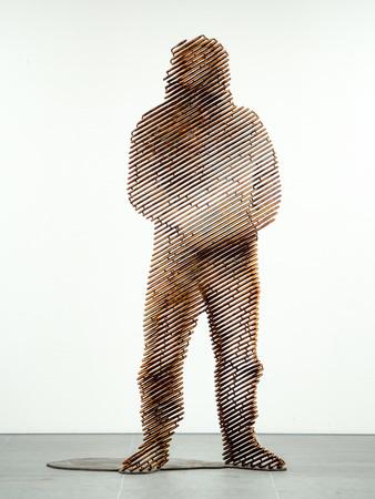 "加藤智大 Tomohiro Kato ""anonymous -human#4"" Iron / H1820 × W870 × D895 mm /  2017 Courtesy of TEZUKAYAMA GALLERY"
