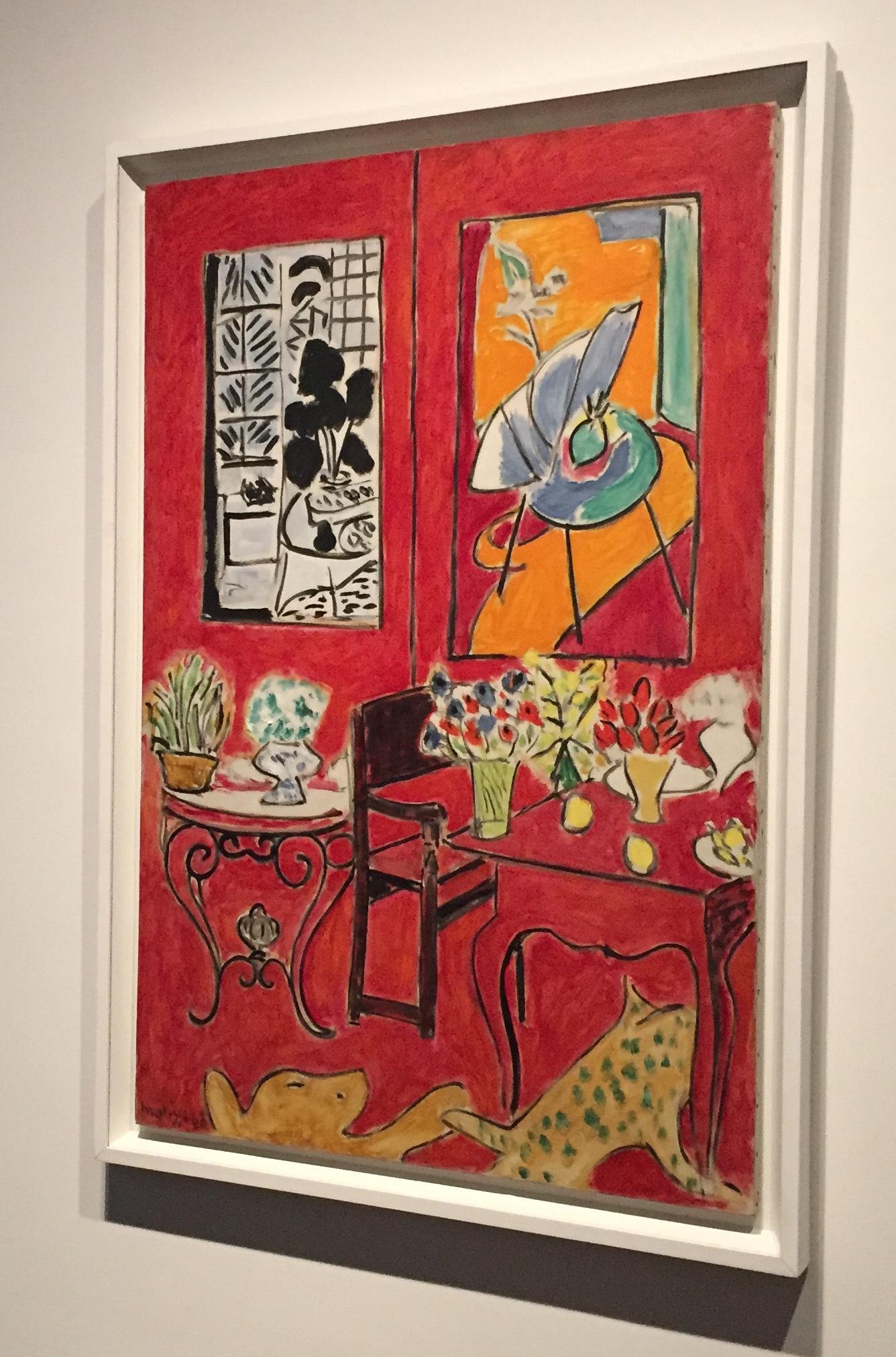 アンリ・マティス《大きな赤い室内》1948年 ⓒgirls Artalk