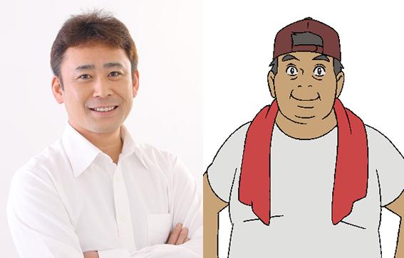 左から、高木渉、『ひるね姫』佐渡 (C)2017 ひるね姫製作委員会