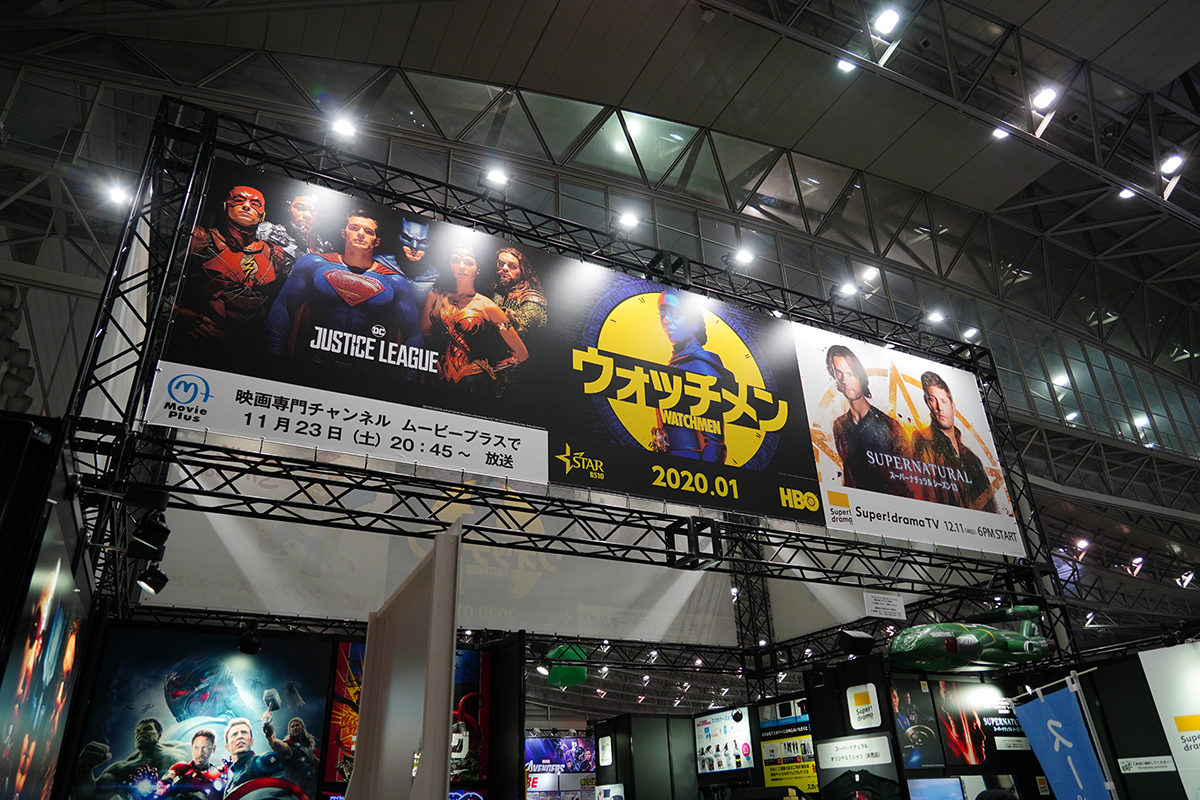 スカパー!の海外ドラマ・映画系チャンネルの合同ブース