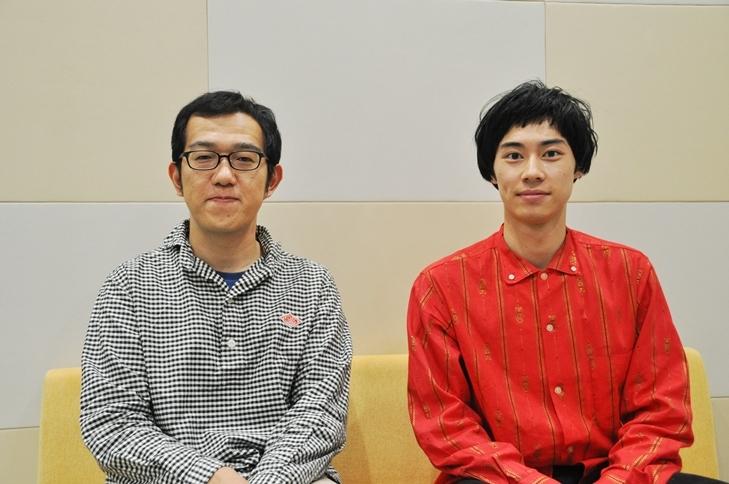 (左から)上田誠、戸塚純貴。 [撮影]吉永美和子(人物すべて)