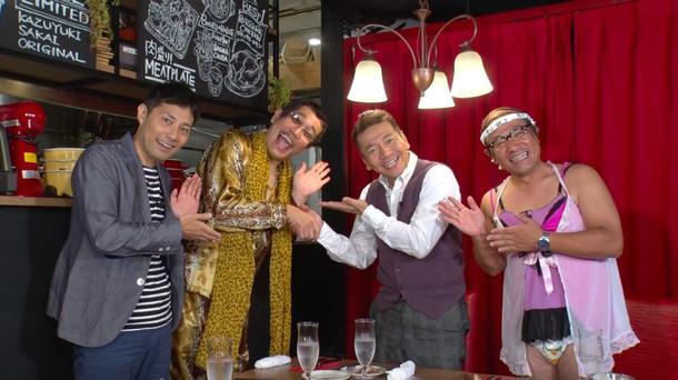 左から浜ロン、ピコ太郎、上田晋也、桐畑トール。(c)テレビ朝日