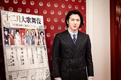 尾上松也が4役早替りで『弥生の花浅草祭』を踊る 『十二月大歌舞伎』取材会にて、見どころを語る