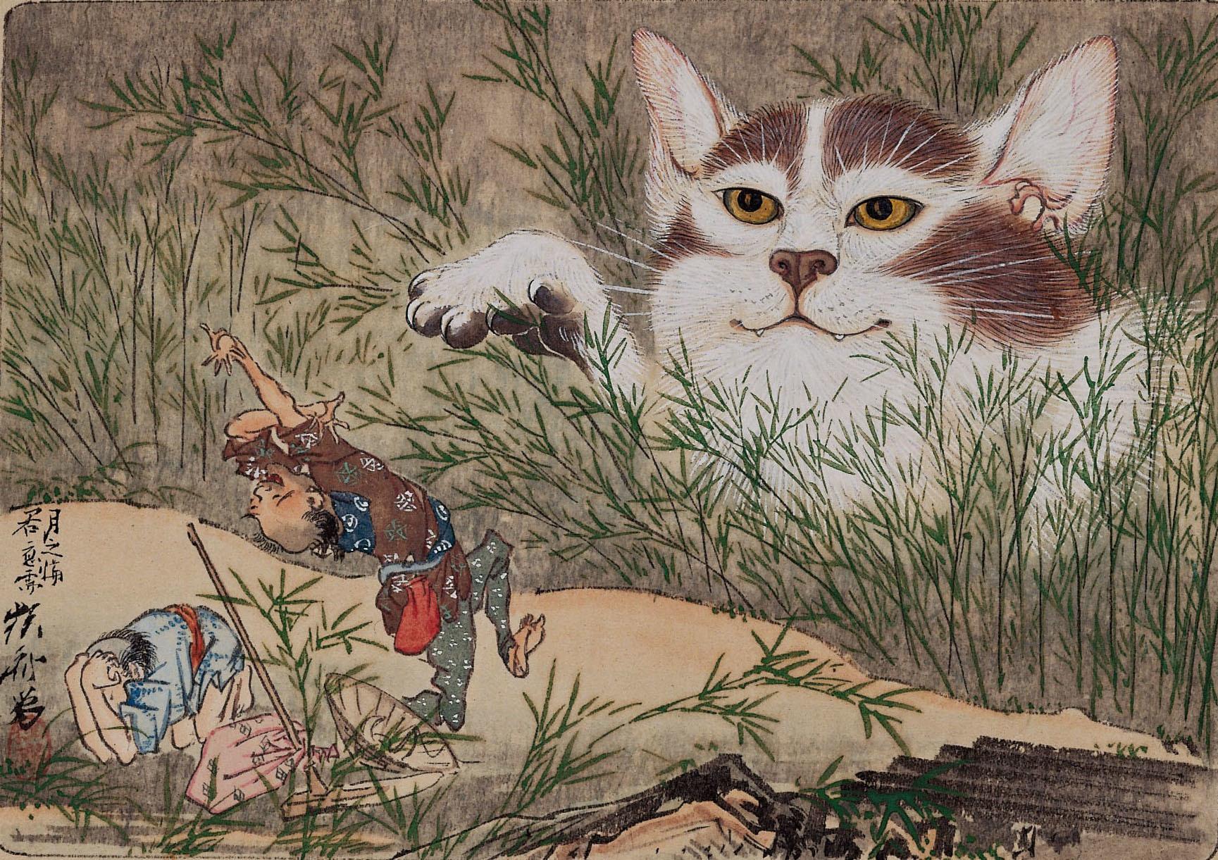 河鍋暁斎 《惺々狂斎画帖(三)》(20図のうち) 明治3(1870)年以前 個人蔵 ※後期のみ展示