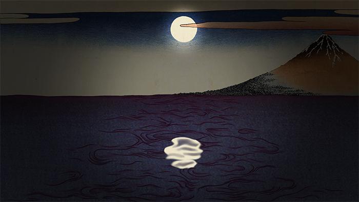 ドビュッシー「そして月は荒れた寺院に落ちる」映像より ©Tabaimo_courtesy_of_IMO_studio