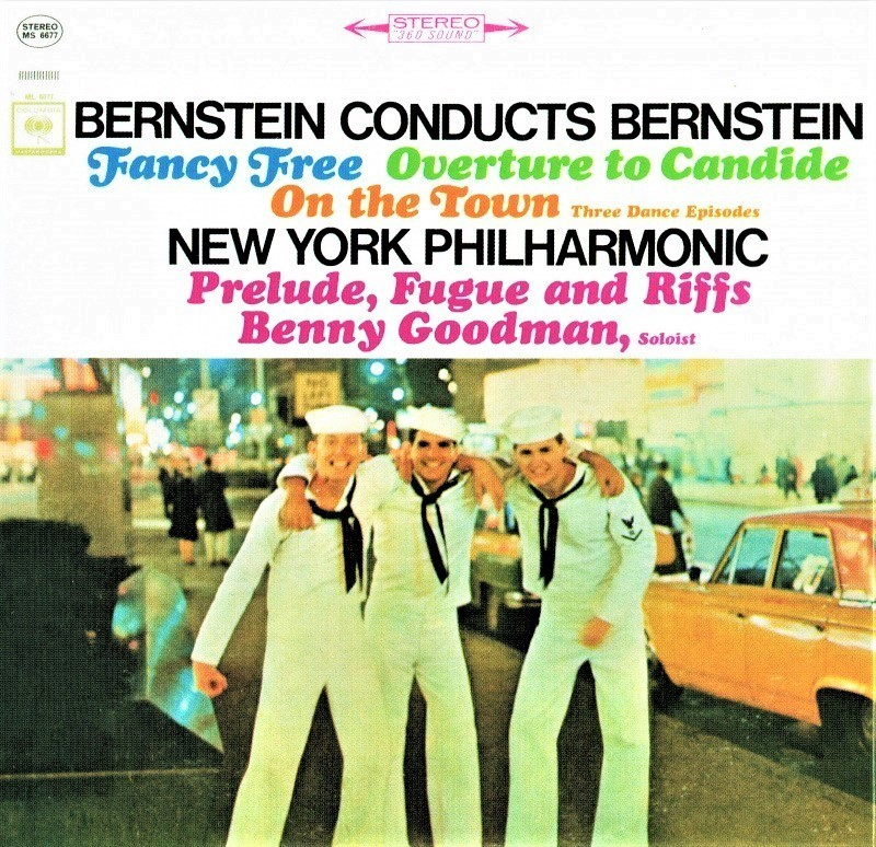バーンスタインがニューヨーク・フィルを指揮し、『オン・ザ・タウン』などの自作曲を再録音した「バーンスタイン・コンダクツ・バーンスタイン」(1960&63年録音/輸入盤CD)