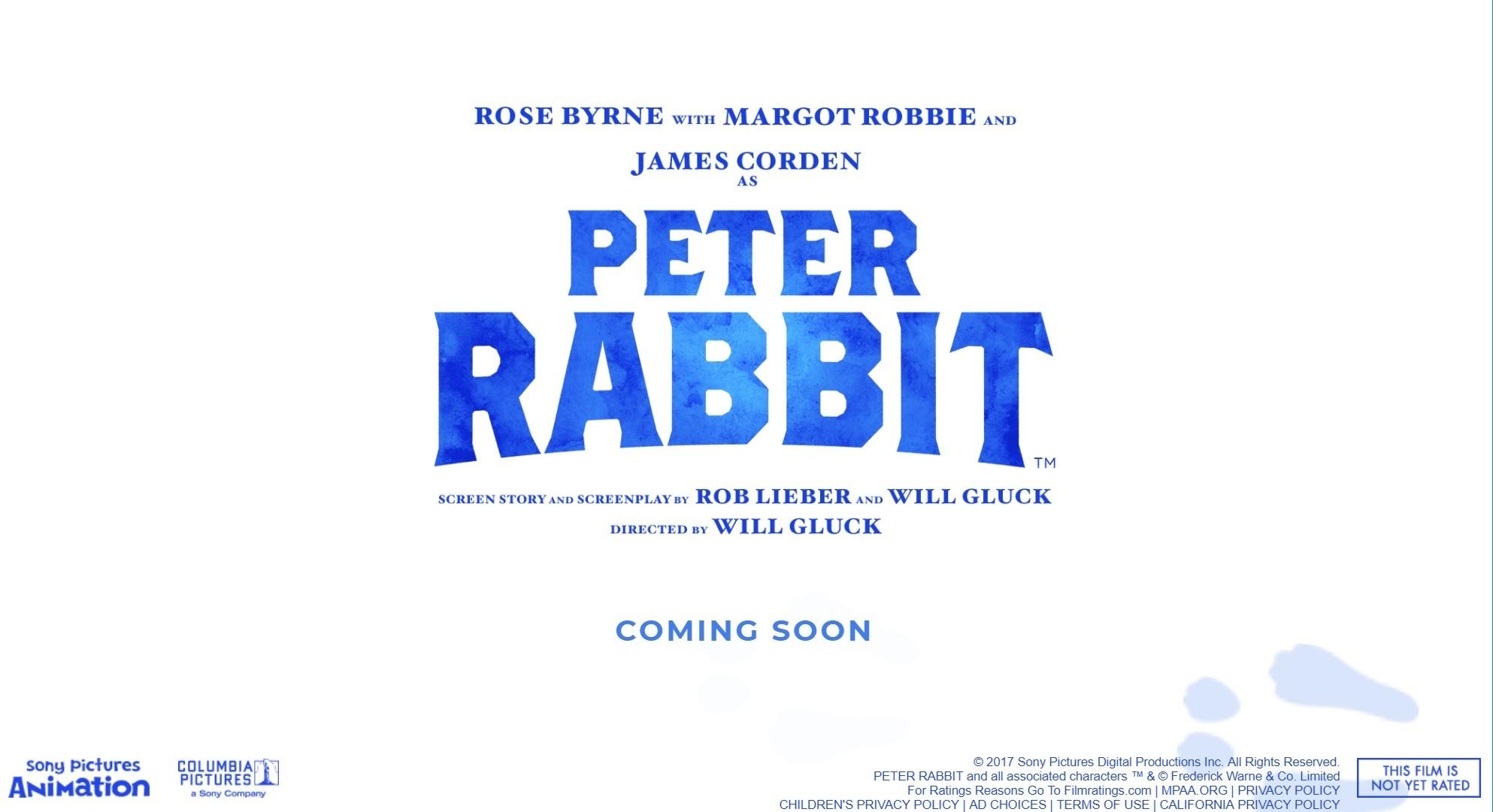 Peter Rabbit™ オフィシャルサイトより