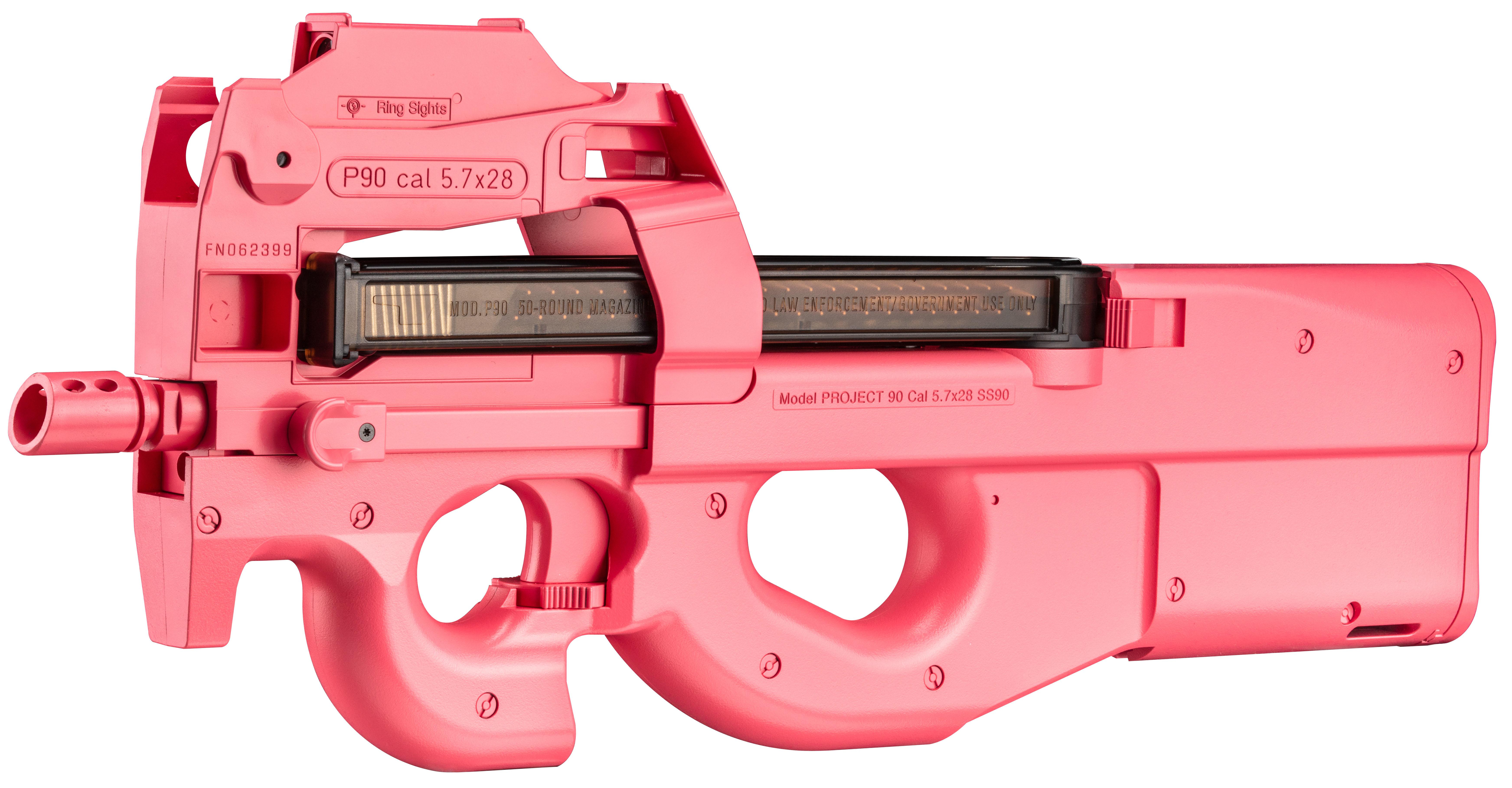 C賞:「特別エアガンP90」(ピンクのピーちゃんver.)2名(※賞品の特性上、 当選は18歳以上に限ります)
