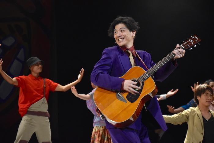 舞台『今、僕は六本木の交差点に立つ』のゲネプロの様子