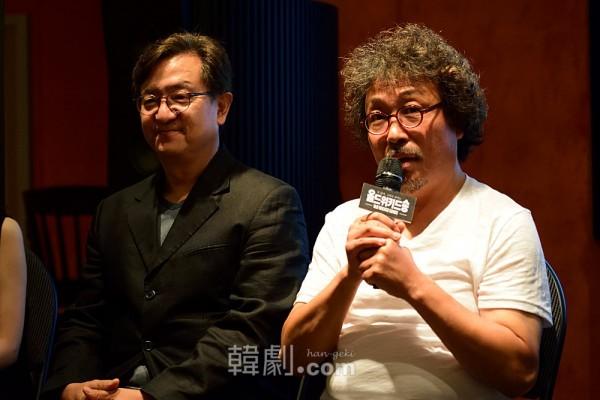 老教授マシュカン役のソン・ヨンチャン(左)とキム・セドン