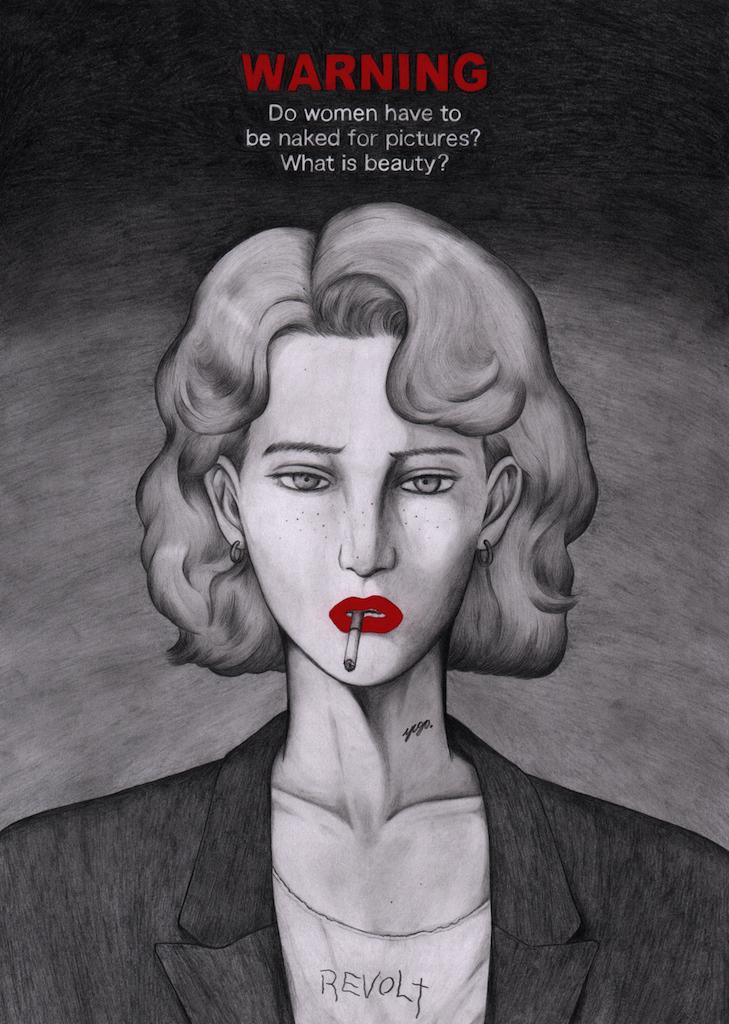 「女の人は裸にならないと美しくないのか」のメッセージが込められている。 (c)NEW DESTRUCTION