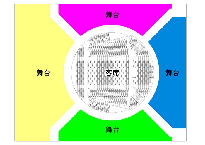 劇場平面図イメージ