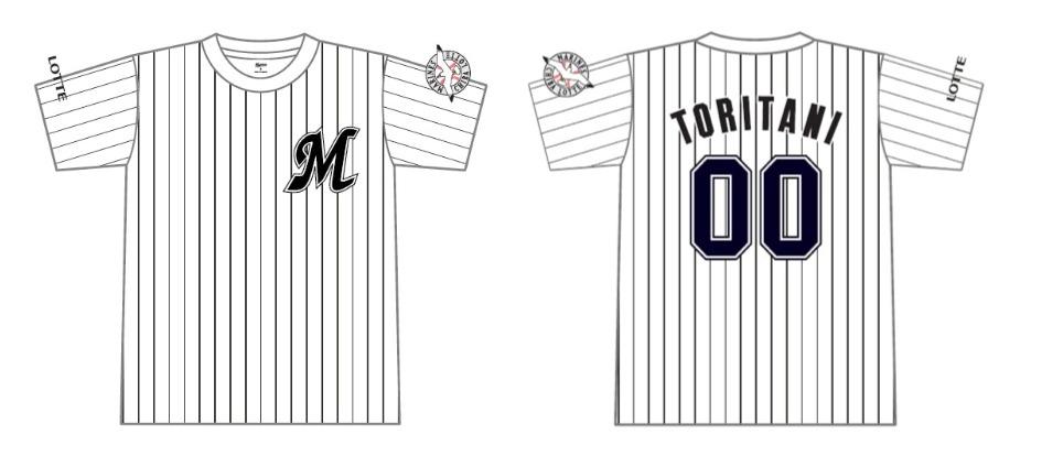 ネーム&ナンバーTシャツ(税込3,500円)