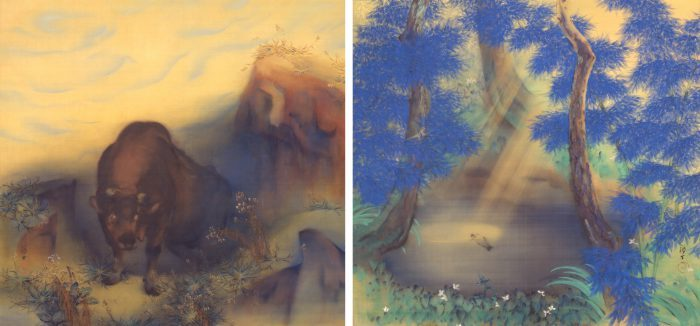 川端龍子≪慈悲光礼讃(朝・夕)≫1918(大正7)年 絹本・彩色 東京国立近代美術館