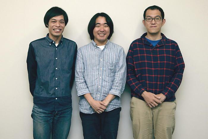 (左から)石田剛太、本多力、上田誠