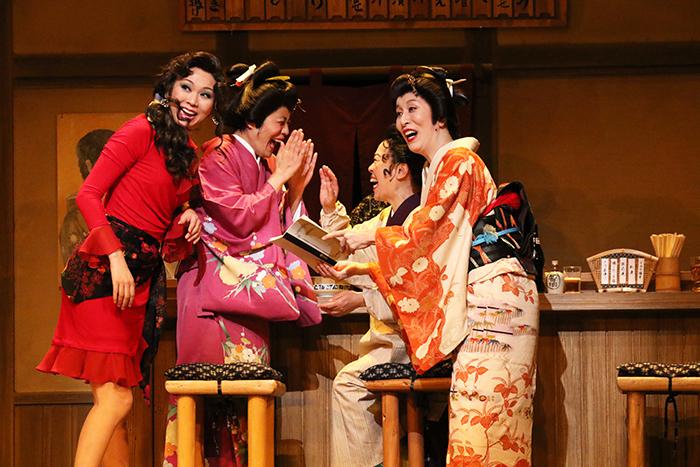 左から、湖月わたる、青木さやか、柴田理恵、高畑淳子
