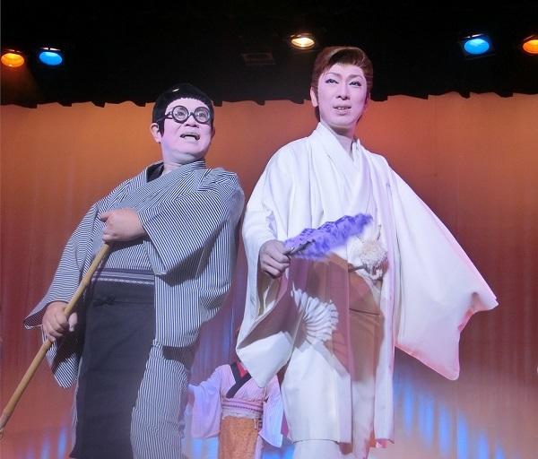 劇団KAZUMA・藤美一馬座長(右) 藤美真の助さん(左)(2015/6/24) 筆者撮影