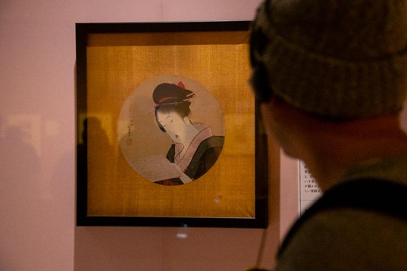 《円窓の美人図》文化2年(1805)頃 シンシナティ美術館 通期展示