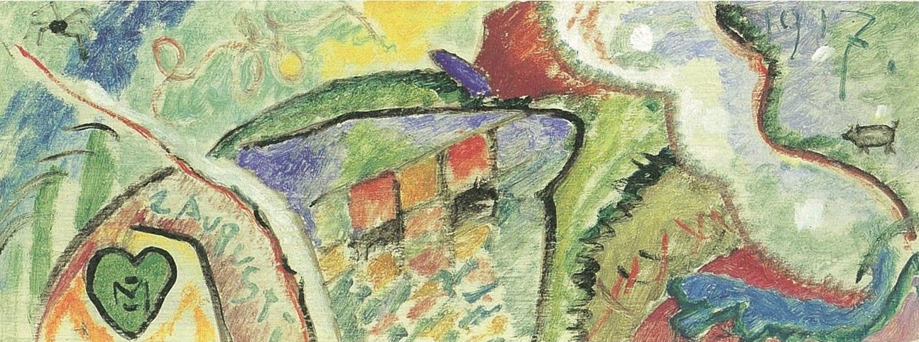 ガブリエーレ・ミュンター《抽象的コンポジション》1917年 横浜美術館蔵