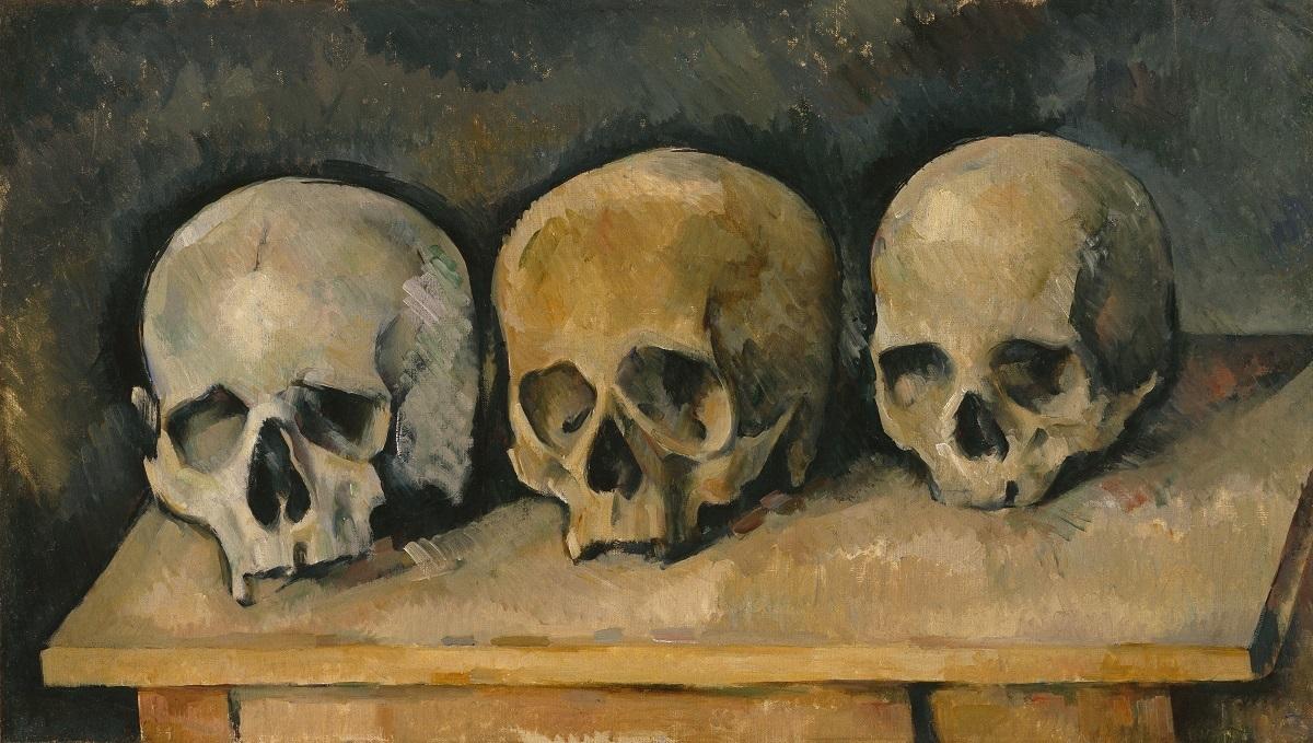 《三つの髑髏》ポール・セザンヌ、1900年頃、Bequest of Robert H. Tannahill