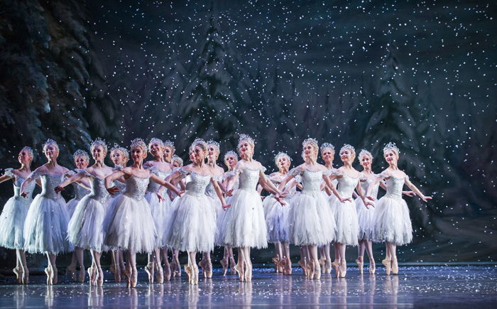 The Nutcracker. Artists of The Royal Ballet as the Snowflakes.