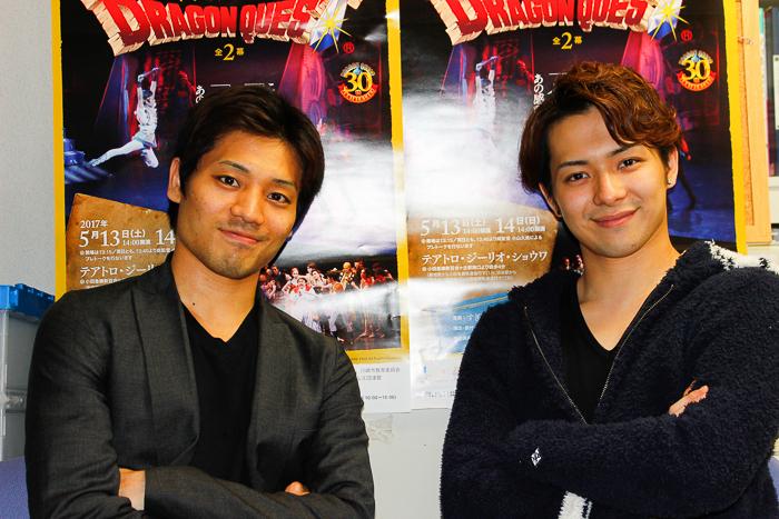 黒の勇者・吉瀬智弘さん(左)と白の勇者・加藤大和さん(右) 撮影:西原朋未