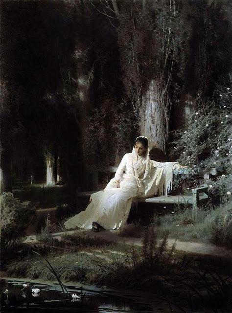 イワン・クラムスコイ 《月明かりの夜》 1880 年 油彩・キャンヴァス (C) The State Tretyakov Gallery